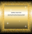 black and gold background with circle frame and vector image vector image