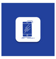 blue round button for device mobile phone vector image