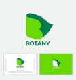 botany monogram letter b open book and life vector image vector image