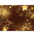 brown background with golden stars vector image vector image