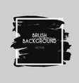 brush logo brushed texture ink paint strokes vector image