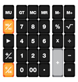 Calculator keyboard set isolated on white vector image vector image