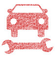 car repair fabric textured icon vector image vector image