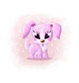 cartoon cute pretty dog vector image vector image