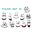 Cartoon laughing faces with googly eyes vector image vector image