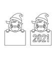 cartoon lineart 2021 year cute baby cow ox cub