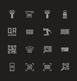 check code - flat icons vector image vector image
