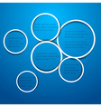 circles for web design vector image vector image