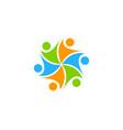 color people logo icon design vector image