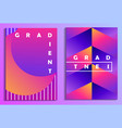 colorful gradients poster set synthwave futurism vector image vector image