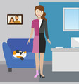 concept work and life balance dividing between vector image
