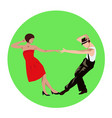 couple man and woman dancing vintage dance vector image vector image