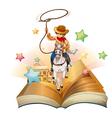 Cowboy Book vector image vector image