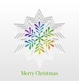 Creative Christmas Snowflake Greeting Card vector image vector image