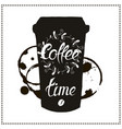 cup of coffee takeaway for restaurant cafe bar vector image vector image