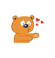 cute bear in love vector image vector image