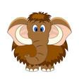 cute cartoon mammoth isolated vector image vector image