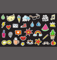 cute colorful modern patch set fashion patches vector image vector image