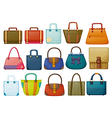Different bag designs vector image vector image