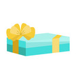 festive holiday gift box with overwhelming bow vector image vector image