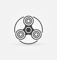 fidget spinner simple icon vector image vector image