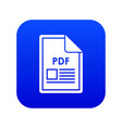 file pdf icon digital blue vector image vector image