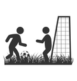 Flat football icon isolated on white vector image vector image