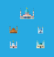 flat icon building set of islam mohammedanism vector image vector image