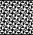 geometric abstract seamless pattern bw vector image vector image