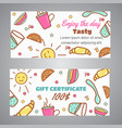 gift certificate text enjoy the day slogan cafe vector image vector image
