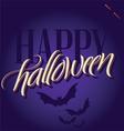 halloween hand lettering vector image