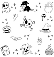 Halloween witch magic doodle vector image vector image