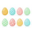 happy easter design collection of easter eggs vector image