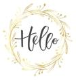 Hello hand written inscription vector image vector image