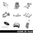 Icon Set 3D Travel vector image vector image