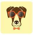 image of dog wearing glasses vector image vector image