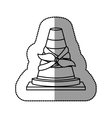 Isolated toy cone damaged design