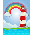 Lighthouse by the ocean vector image vector image