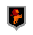 lion shield heraldic symbol leo sign animal for vector image vector image