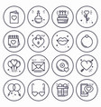 love line icons concept set happy valentine day vector image vector image