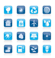 nature and environment Icons vector image