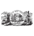 official us state seal west virginia vector image vector image