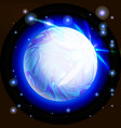 outer space blue planet vector image vector image