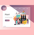 plant website landing page design template vector image vector image