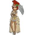 Pretty Steampunk With Parasol vector image vector image