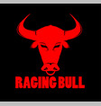 raging bull and buffalo logo vector image vector image