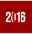 red and white number 2016 vector image vector image