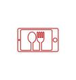 restaurant phone application theme logo template vector image