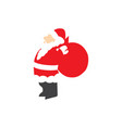 santa claus give award vector image vector image