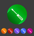 screwdriver repair icon flat web sign symbol logo vector image vector image